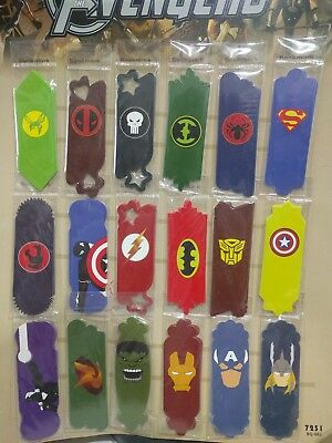 Avengers Hero Badge Card Paper Bookmark x 18 Different Design