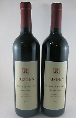 2 x RUSDEN Boundaries Cabernet Sauvignon, Barossa Valley 2005 RRP $90 Each