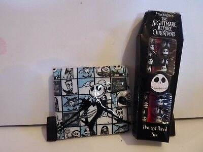 NEW! Nightmare Before Christmas WALLET and PEN/PENCIL bundle.