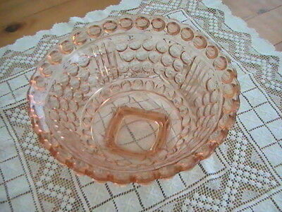 Art Deco Walther Brussels glass bowl - pink - hard to get in this condition