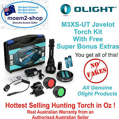 Olight M3XS UT JAVELOT 1200lm LED KIT with SUPER EXTRAS for Tactical Hunting