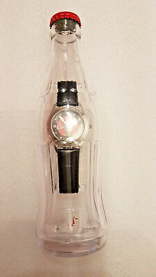 Vintage Coca-Cola Uhr in der Coke Reliefflasche / Watch in a Bottle