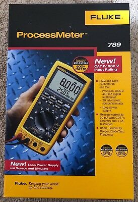 New Fluke 789 ProcessMeter Multimeter Loop Calibrator w/ Test Lead Set Qty!!!!