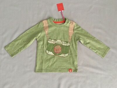 Nwt Oilily Boys Green Long Sleeve Top Sz 12 Months / 80 *free Post