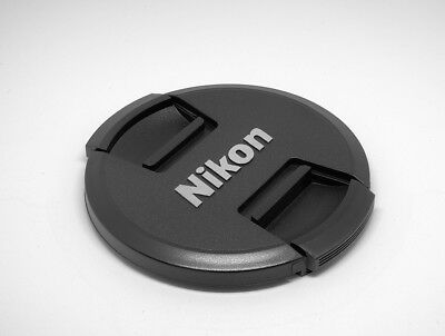 LC77  Premium Centre Pinch Front Lens Cap for NIKON 77mm filter thread UK Seller