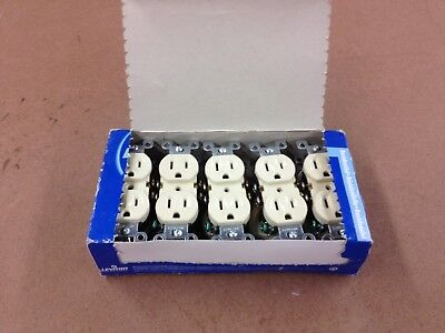 Leviton 5320-ICP 15 Amp, 125 Volt, Duplex Receptacle, Lot of 10
