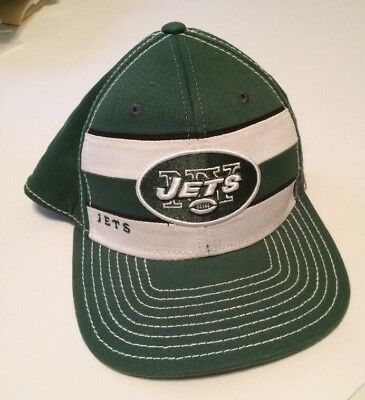 NY New York Jets Reebok Licensed NFL Football Team Script Cap Hat Size S M ecae55bf2