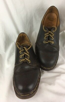 The Original Dr Martens 10 Brown Leather In England Air Cushioned Man Made Soles