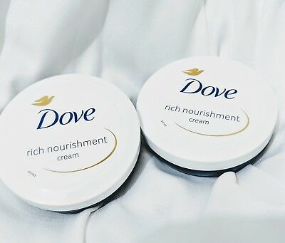 Dove 2x Rich Nourishment Creams 75ml x 2 Moisturising Face Body Hydrate Creams