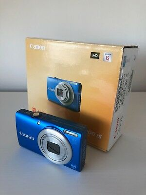 Canon Powershot A4000 IS Digital Camera 16MP 8X OPTICAL ZOOM/ CASE / BOXED/ 4GB