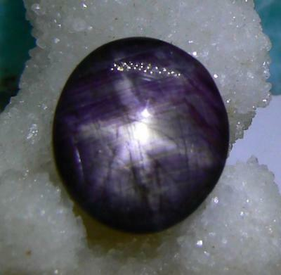 RARE NATURAL UNTREATED PURPLE 6 RAY STAR RUBY OVAL CAB 16.25cts 15mm AAA