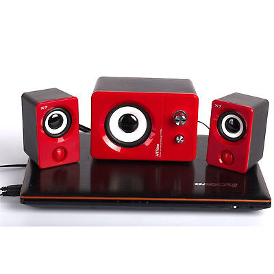 Multimedia Speaker System USB Computer PC Desktop Laptop Speakers Bass Subwoofer