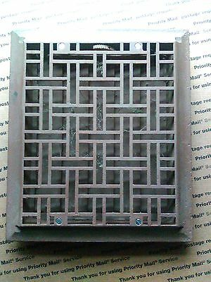 Vintage Stamped  cast floor or wall grate 12x14