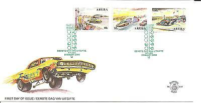 Aruba Nr. 343-45, Dragstersport, FDC 16.3.2005