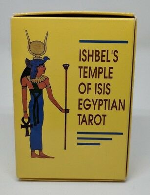 Ishbel's Temple of Isis Egyptian Tarot Cards 1989 78-Card Deck Egypt Unused