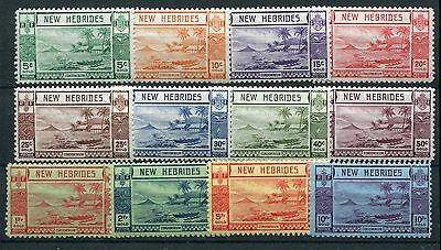 New Hebrides KGVI 1938 Gold Currency set SG52/63 LMM