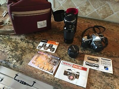 Pentex ME super 35mm SLR camera plus lenses