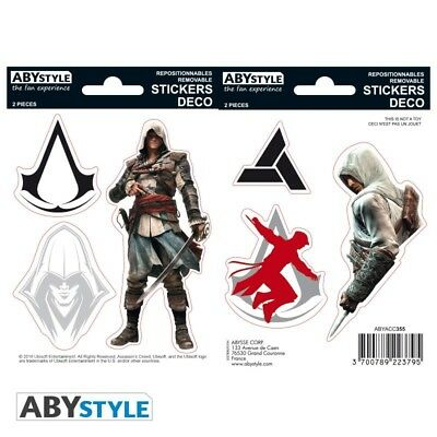[GIW]  Abystyle ASSASSIN'S CREED - Stickers - 16x11cm/ 2 planches -Edward/ Altai