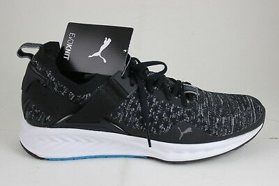 Puma Men s Ignite evoKNIT Lo Black Blue Quiet Shade 18990401 Brand New In  Box cde7b11cc
