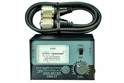 Workman Swr-2T Cb Radio Antenna Swr Meter & 3` Foot Jumper Coax