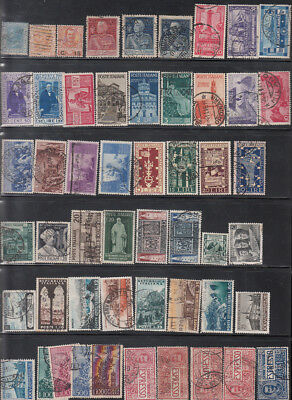 Italy 19 Complete USED Sets Issued 1867-1954