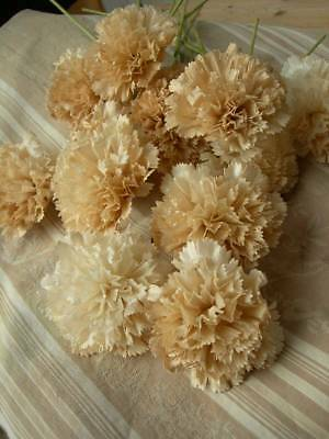 Bouquet 12 stems antique French 1890s handmade wax paper convent flowers