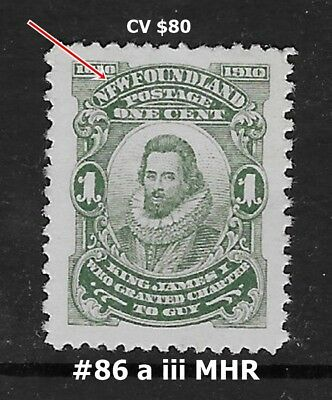 Newfoundland Jean-Guy issue MHR #86a iii