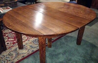 Original Gustav Stickley 5-Leg Mission Oak Dining Table - Local Pick Up