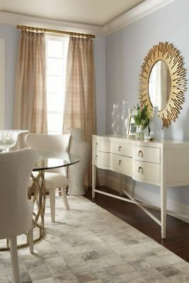 Bernhardt Salon Sideboard Teardrop Drawer Pulls in Alabaster Mapple Veneers