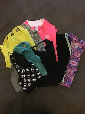Bundle of fitness running clothes. Size S/M.  Gap, H&M, USA Pro Etc