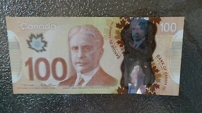 Canadian $100 Dollar Bank Note Polymer Bill FKU6307333 Circulate 2011 Canada