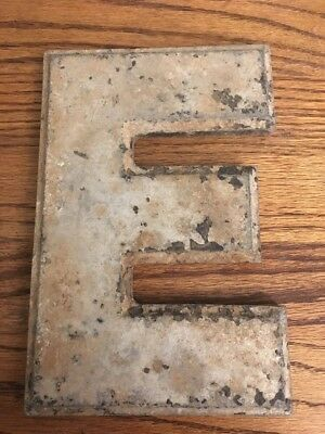 Vintage Marquee Theater Letter E Wagner Sign Service 8 Inch Antique E1