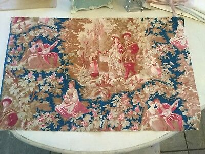Early 19th century French toile. Toile antique fabric