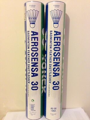 2x Yonex Aerosensa 30 Feather Badminton Shuttlecocks. Speed Shuttle is 2