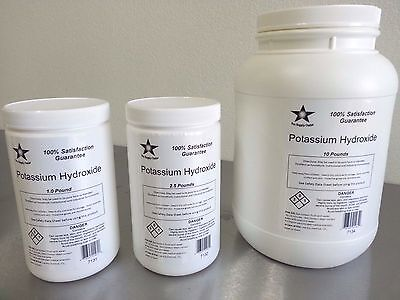 Potassium Hydroxide Flakes 5 Lb (KOH, Caustic Potash) 90% Food Grade 7133