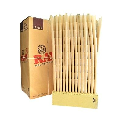 RAW Prerolled CONES 50 Count KING SIZE Natural Classic Unrefined Rolling Papers