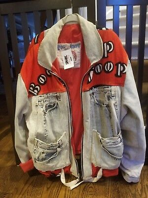 Vtg Too Cute Betty Boop Jeans Jacket Stone Washed Red 1980's Nordstrom's Savvy