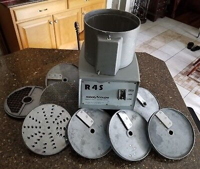 Robot Coupe R4S Commercial Food Processor with 7 Blades