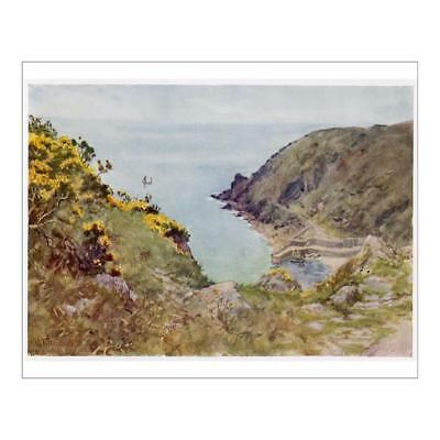 "10""x8"" (25x20cm) Print of CORNWALL/LAMORNA COVE from"