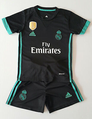 Real Madrid Away Kinder Trikot Set, 2017/18, Nr. 7, Neu