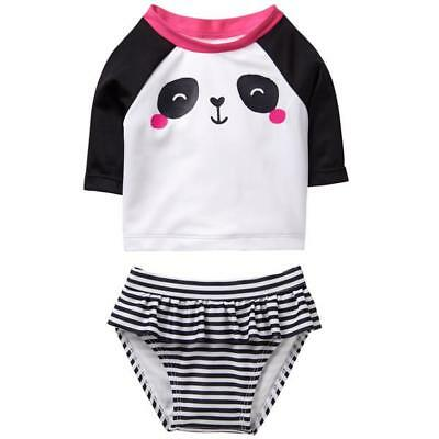 NWT Gymboree BABY BUDDIES Swim Shop Sz 12 18 24 M Panda Rash Guard Bathing Suit