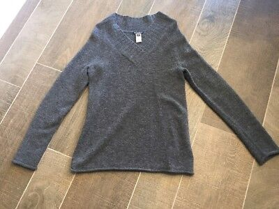 Gap Maternity Women's Charcoal Gray V-neck Sweater Size Small EUC Excellent Work