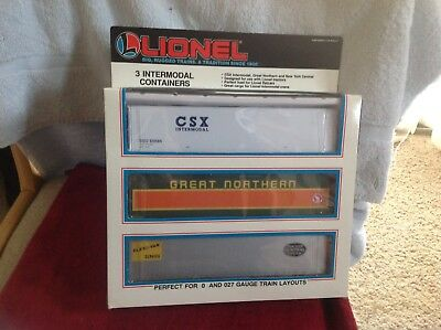 Lionel Intermodal Container set #12826 New and unused
