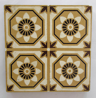 "Antique three-colour Encaustic Floor tiles 6 x 6"" – Stoke on Trent - 1 of 2"