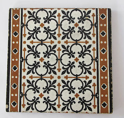 "Antique - Minton Hollins & Co.  8 x 8""  tile  c.1870's - Lovely condition"