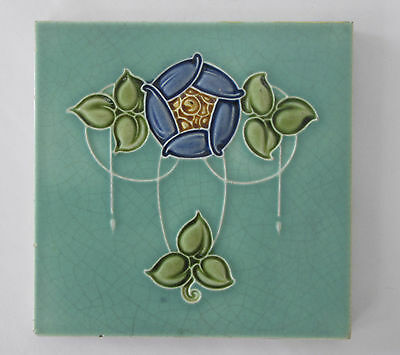 Antique Art Nouvea Majolica Tile – Malkin  c. 1907