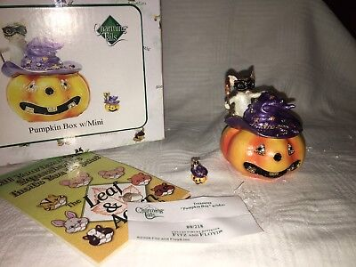 "Charming Tails ""PUMPKIN BOX WITH MINI"" DEAN GRIFF NIB"