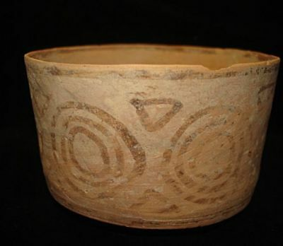VERY NICE!   ANCIENT PAINTED BOWL--5000 years old! 3000BC~~~no reserve