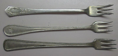 Mixed Lot of 3 Silver-plate Forks Yourex Associated, International, National