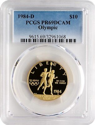 1984-D $10 Olympic Gold Commemorative PCGS PR69DCAM